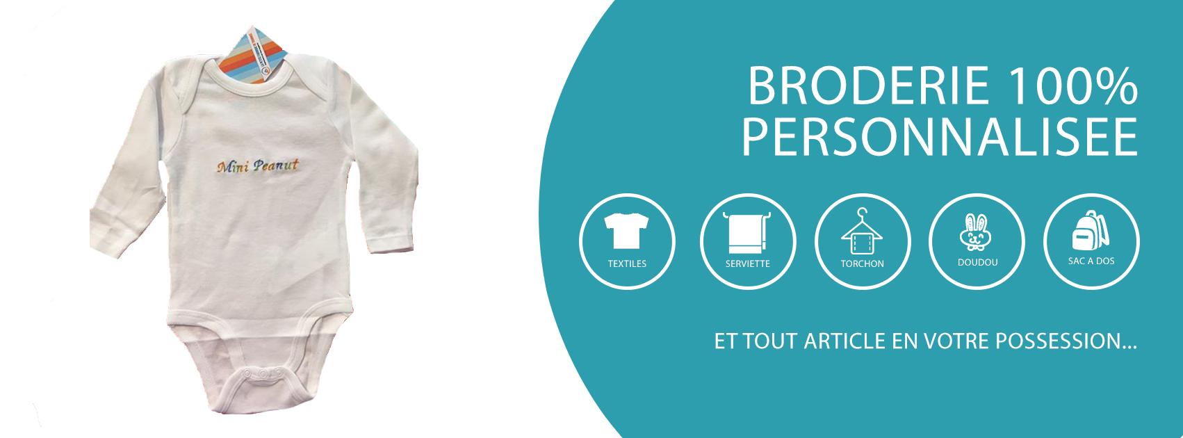 Nos services en boutique : Body brodé