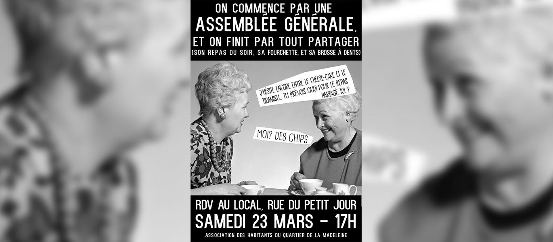 """Impression d'affiches pour l'Asso du """"Quartier de la Madelaine"""" !"""