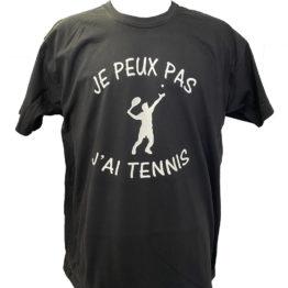 tee-shirt J'peux pas j'ai tennis